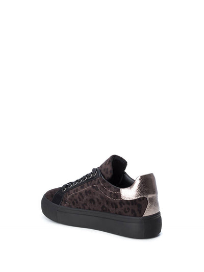 Refresh Brown Black Lace-up Trainers