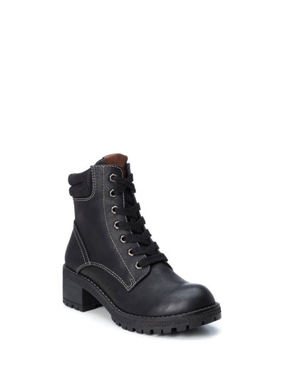 Refresh Black Lace-up Boots