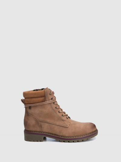 Refresh Wheat Zip Up Boots