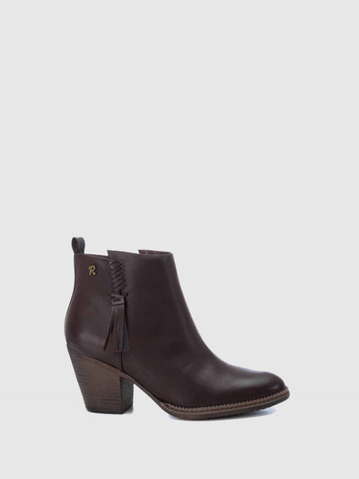 Refresh Brown Pointed Toe Ankle Boots