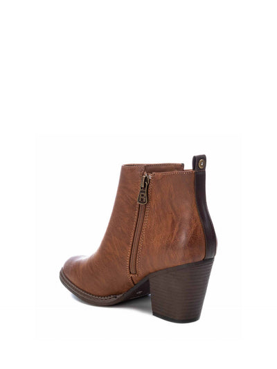 Refresh Camel Pointed Toe Ankle Boots