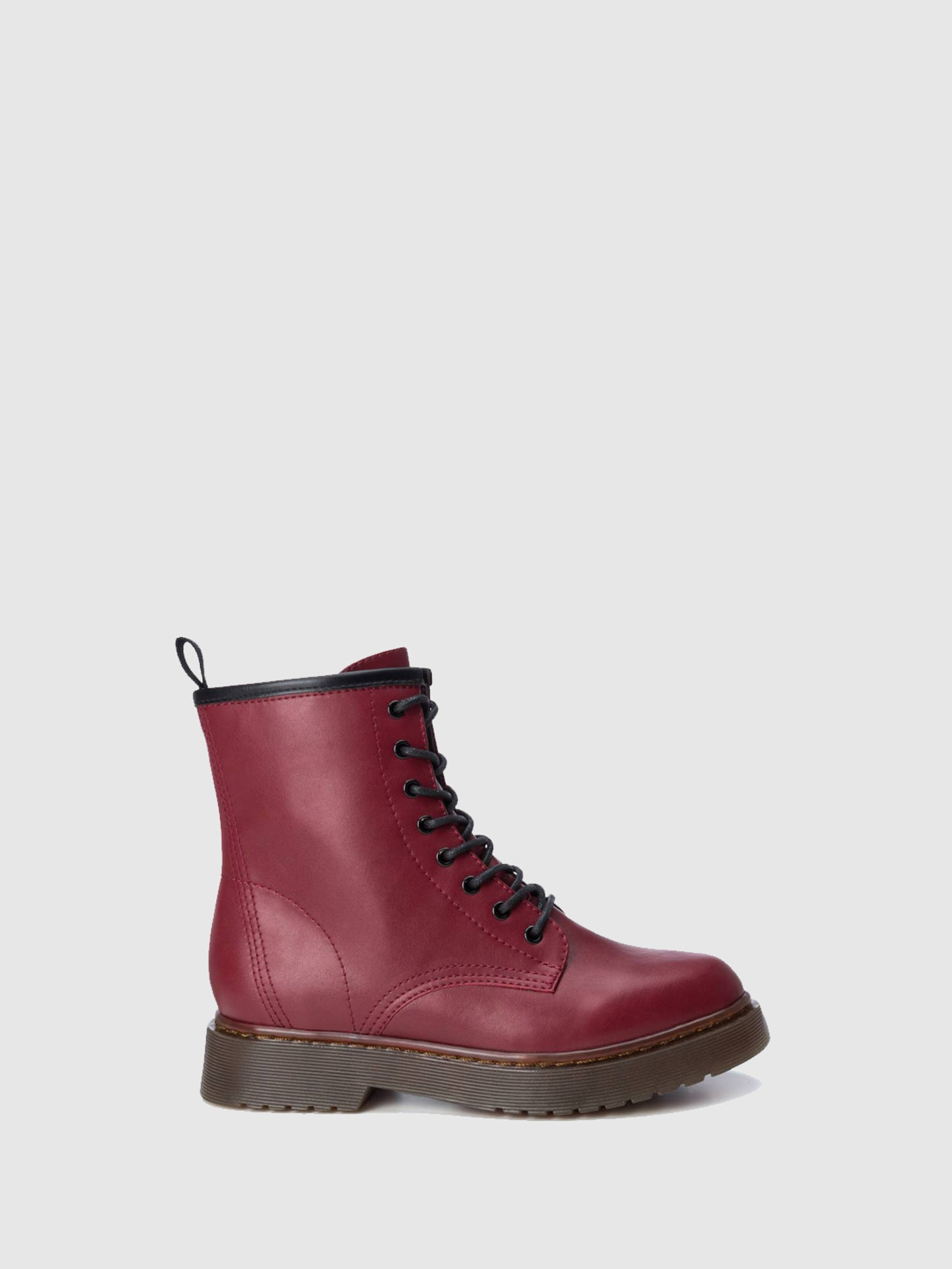 Refresh Red Zip Up Boots