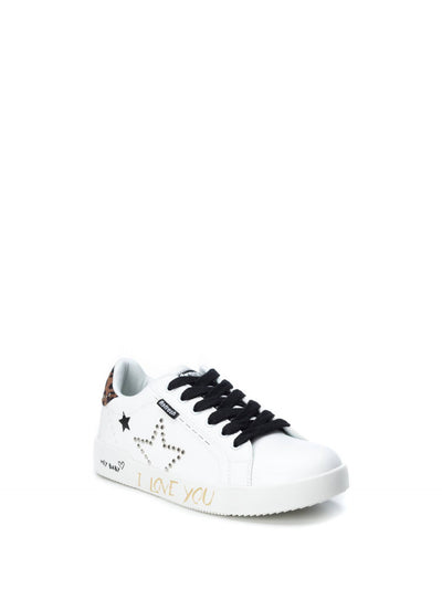 Refresh White Lace-up Trainers