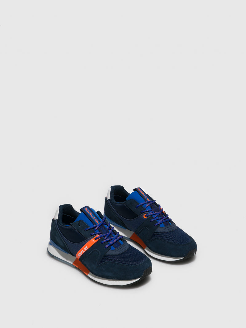 Replay Navy Lace-up Trainers