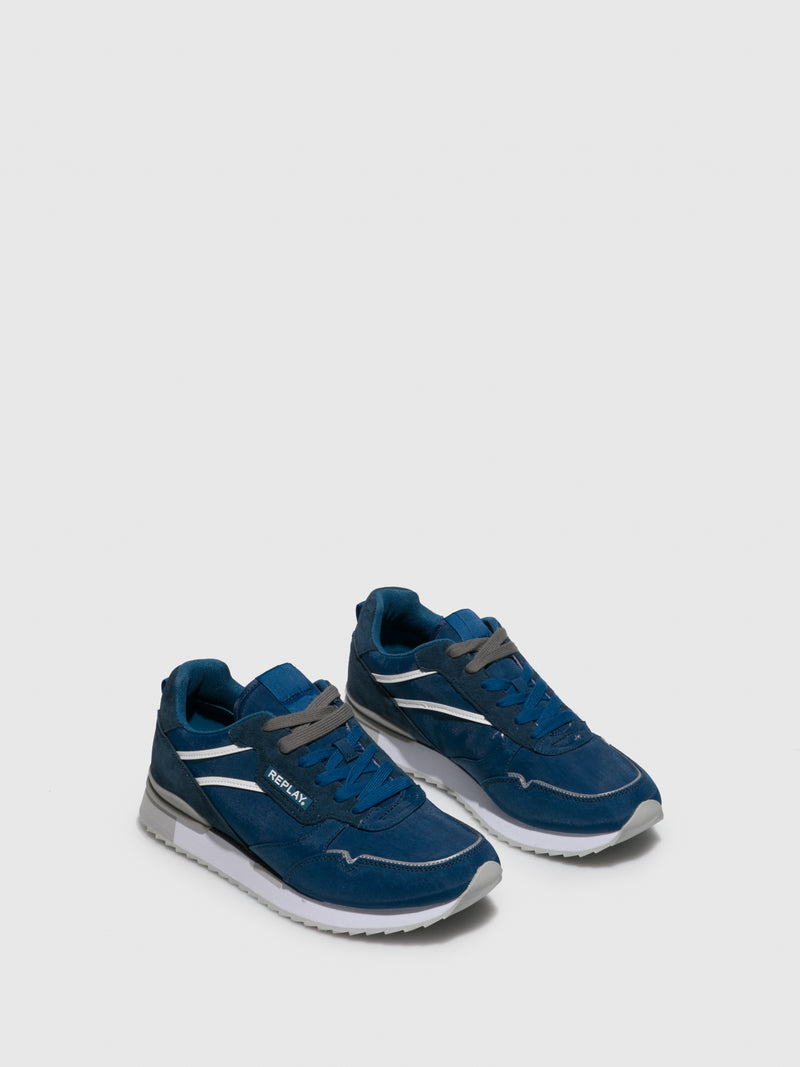 Replay Blue Lace-up Trainers
