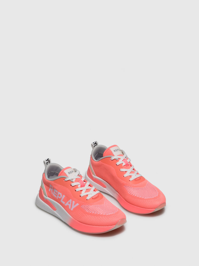 Replay Coral Lace-up Trainers