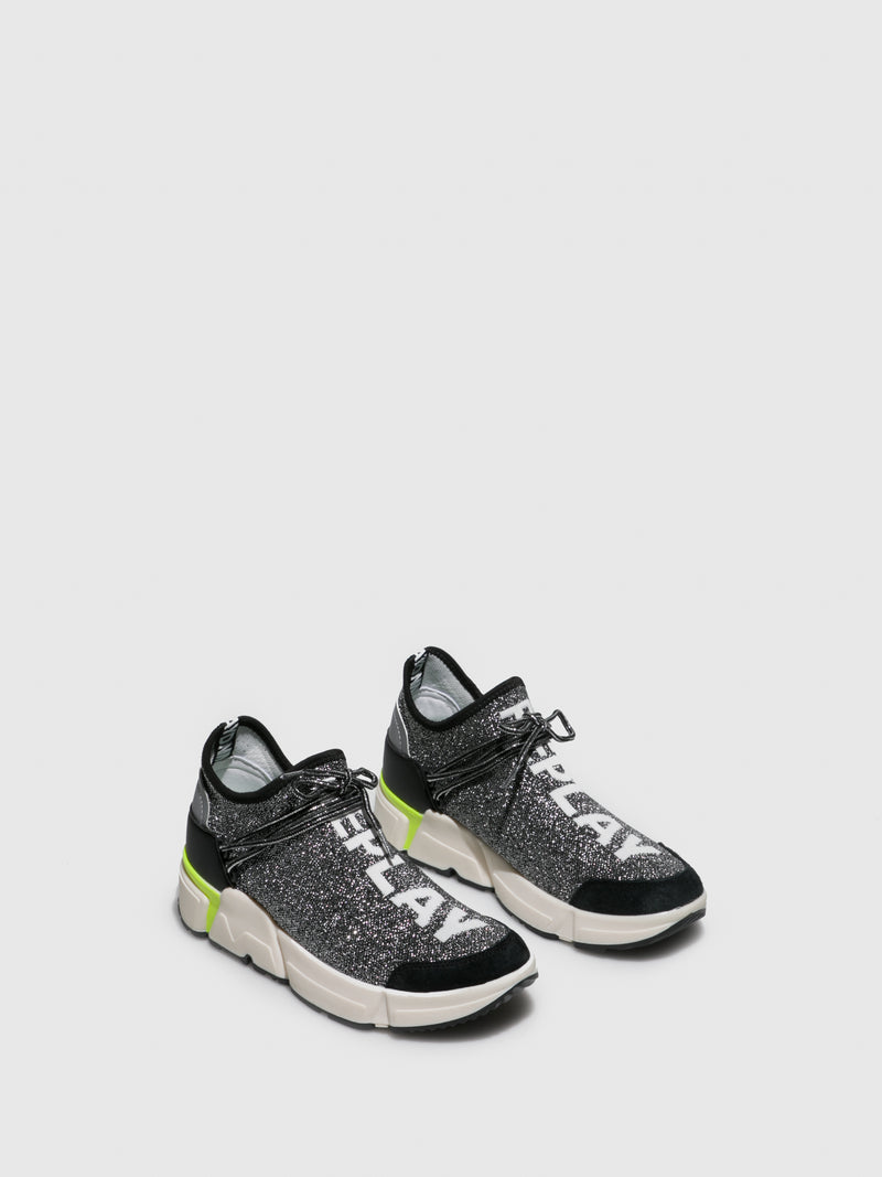 Replay Silver Elasticated Trainers