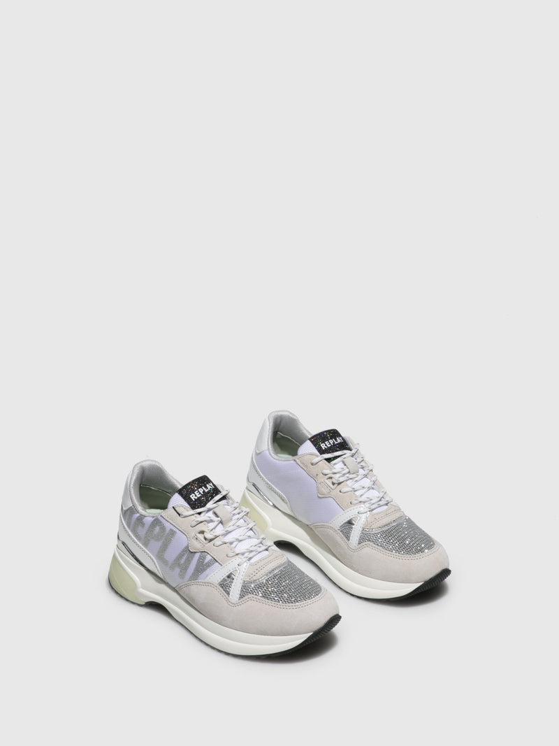 Replay Silver Lace-up Trainers