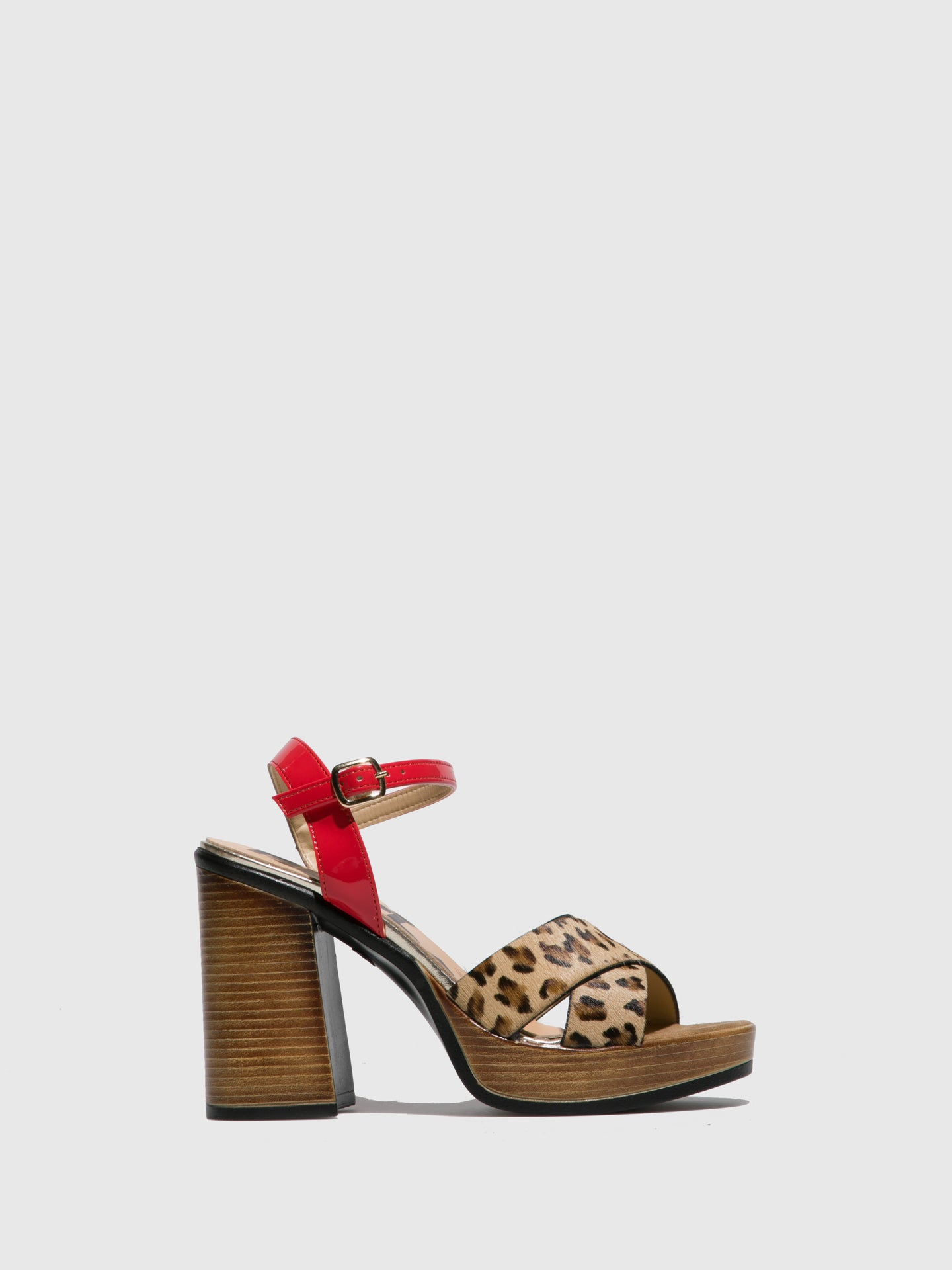Replay Red Ankle Strap Sandals