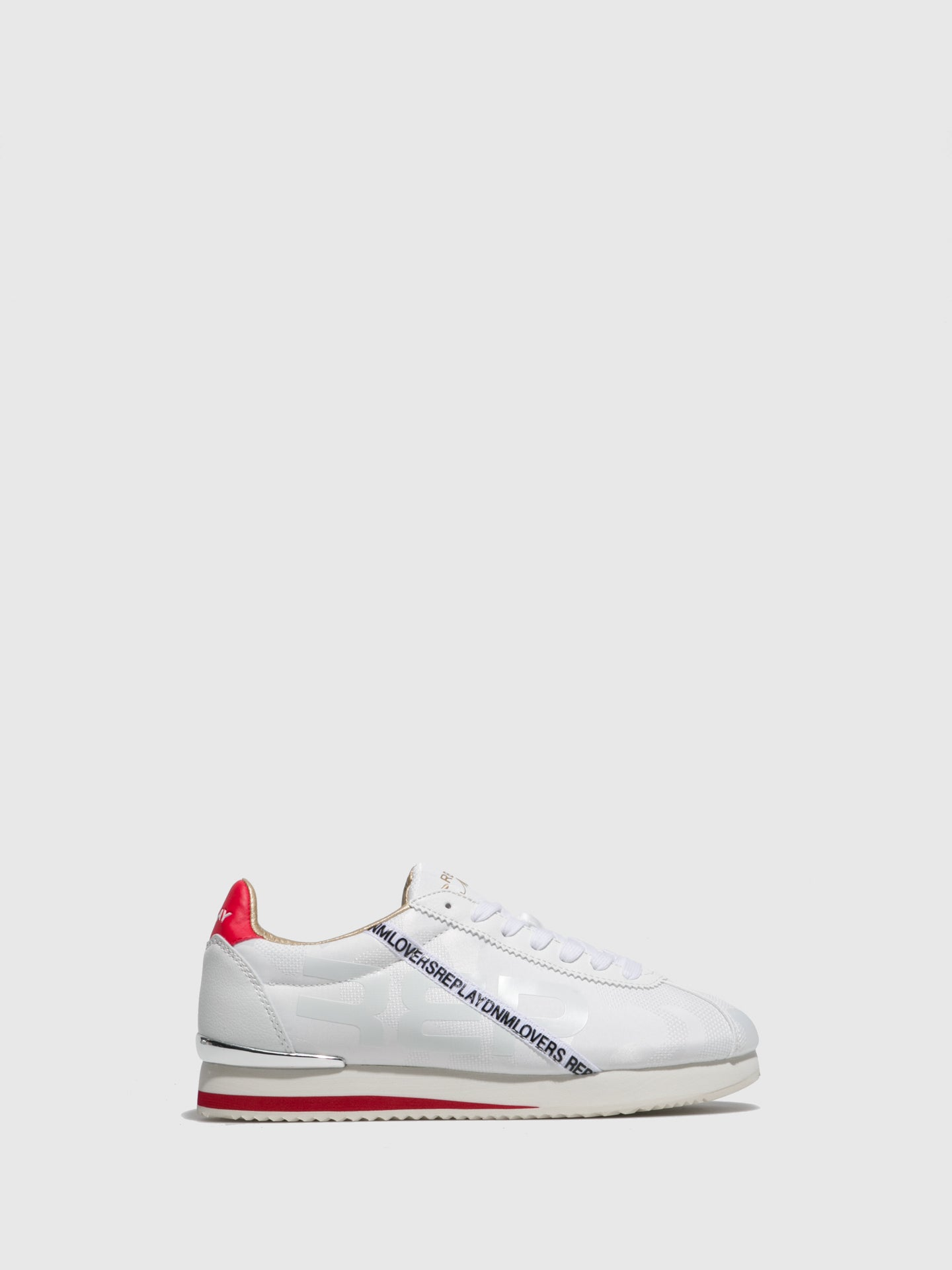 Replay White Lace-up Trainers
