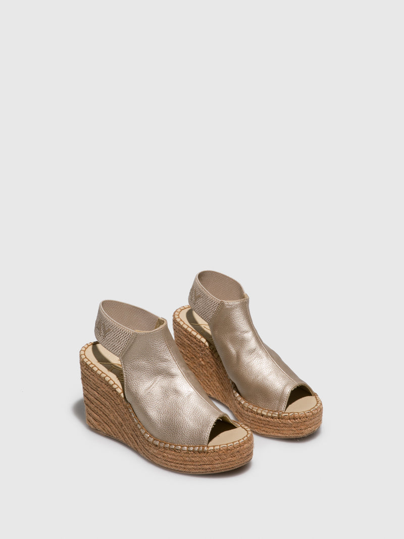 Replay Gold Wedge Sandals