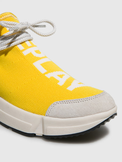 Replay Yellow Elasticated Trainers