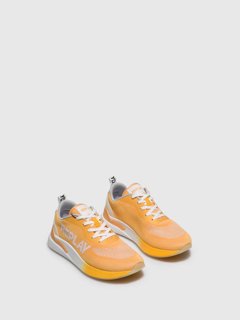 Replay Yellow Lace-up Trainers