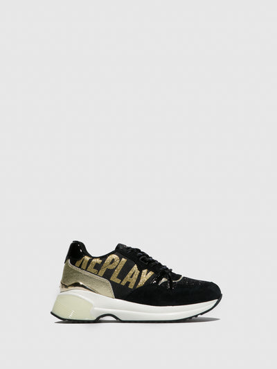 Replay Gold Lace-up Trainers