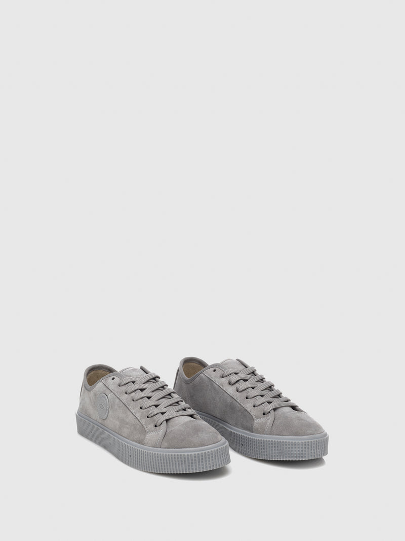 Sanjo Gray Suede Lace-up Trainers