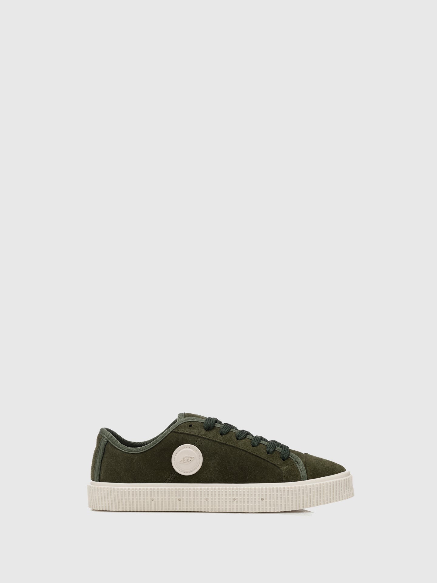 Sanjo Khaki Suede Lace-up Trainers