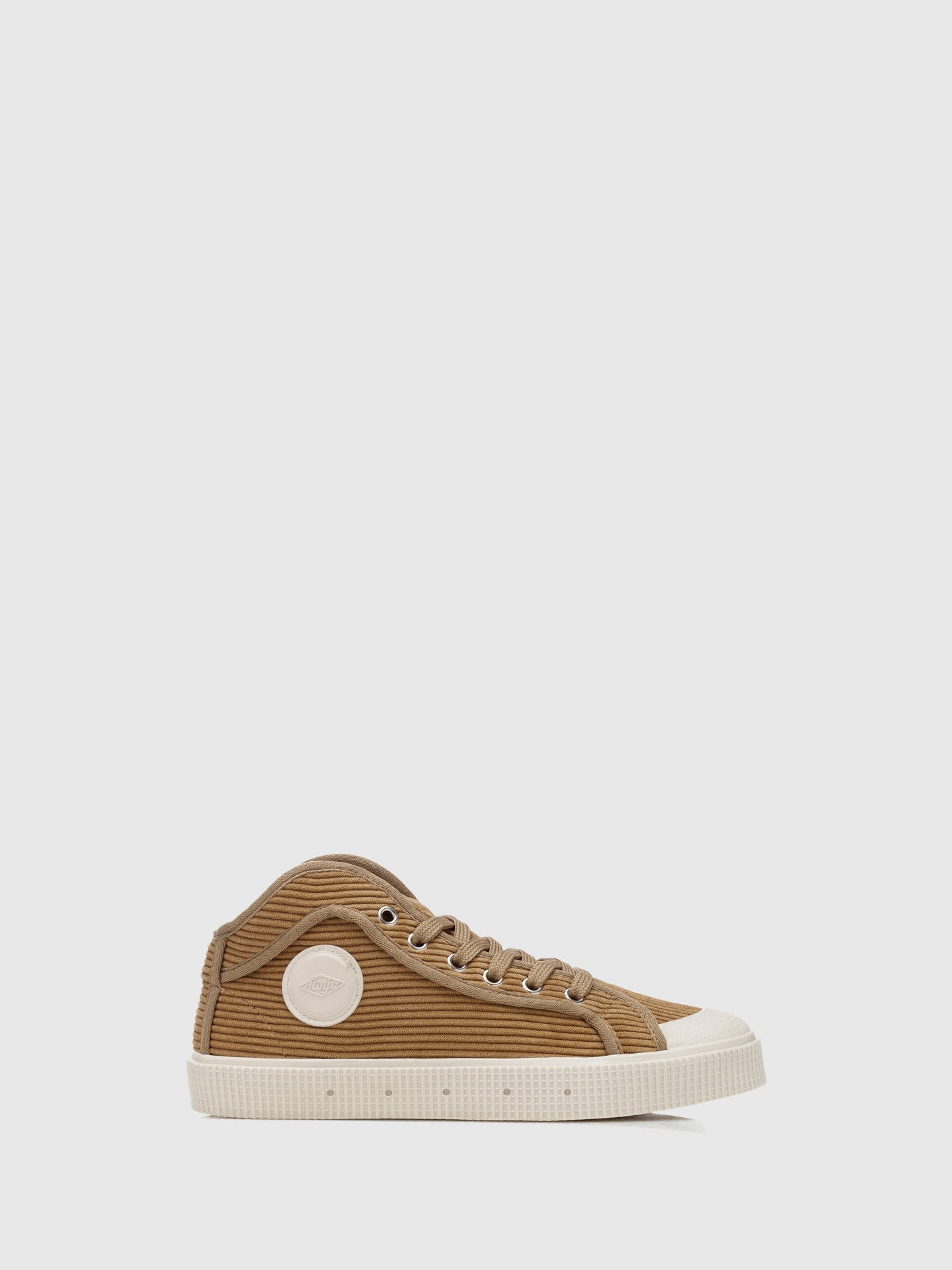 Sanjo Bombazine Beige Lace-up Trainers