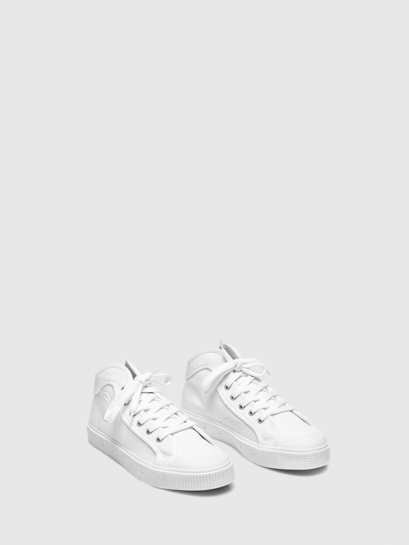 Sanjo White Lace-up Trainers