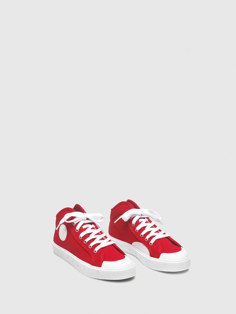 Sanjo Red Lace-up Trainers