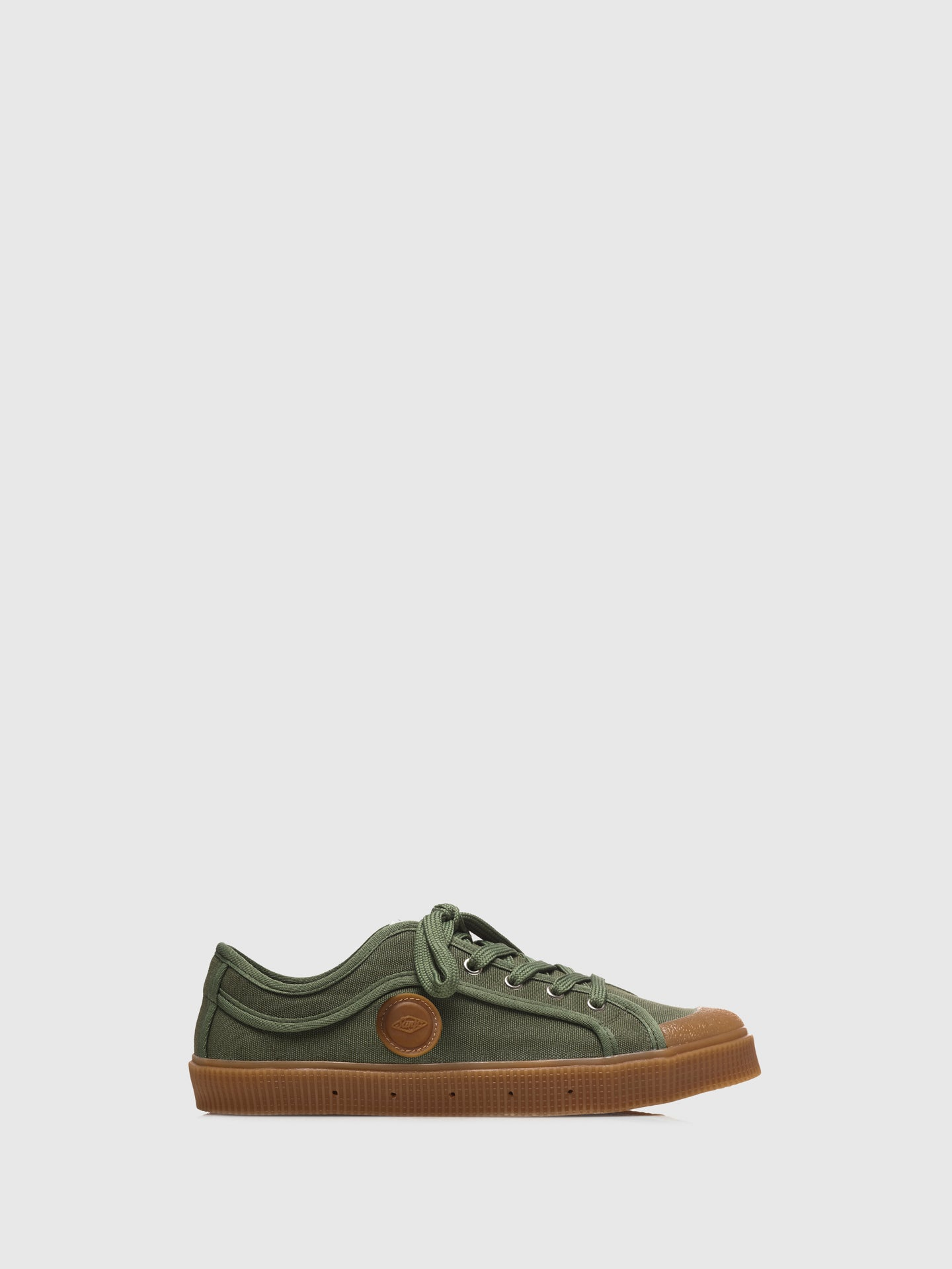 Sanjo Khaki Lace-up Trainers