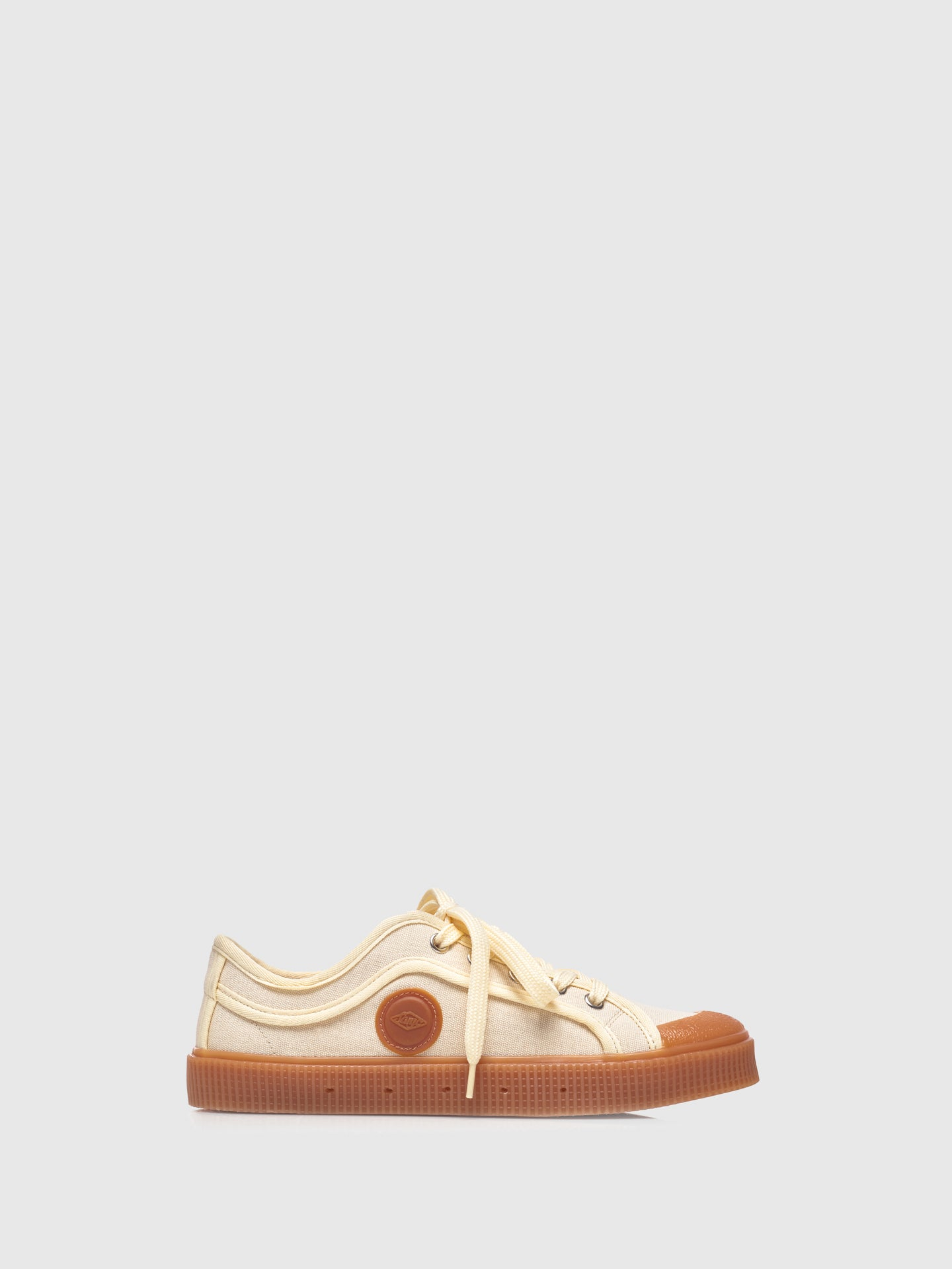 Sanjo Beige Lace-up Trainers