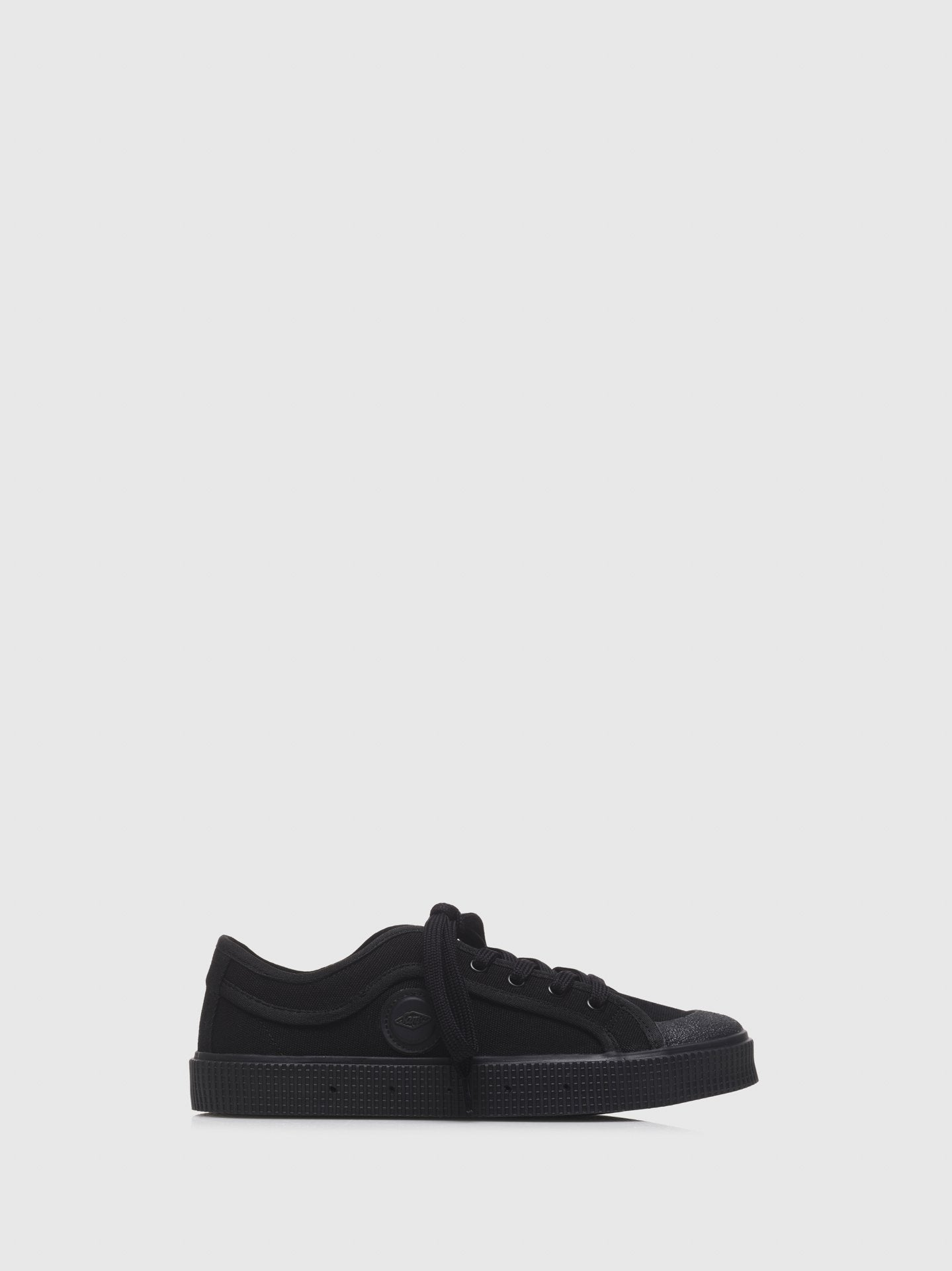 Sanjo Black Lace-up Trainers