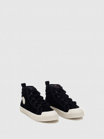 Sanjo Black Suede Lace-up Trainers