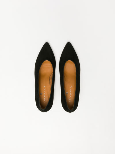 Sofia Costa Black Classic Pumps Shoes