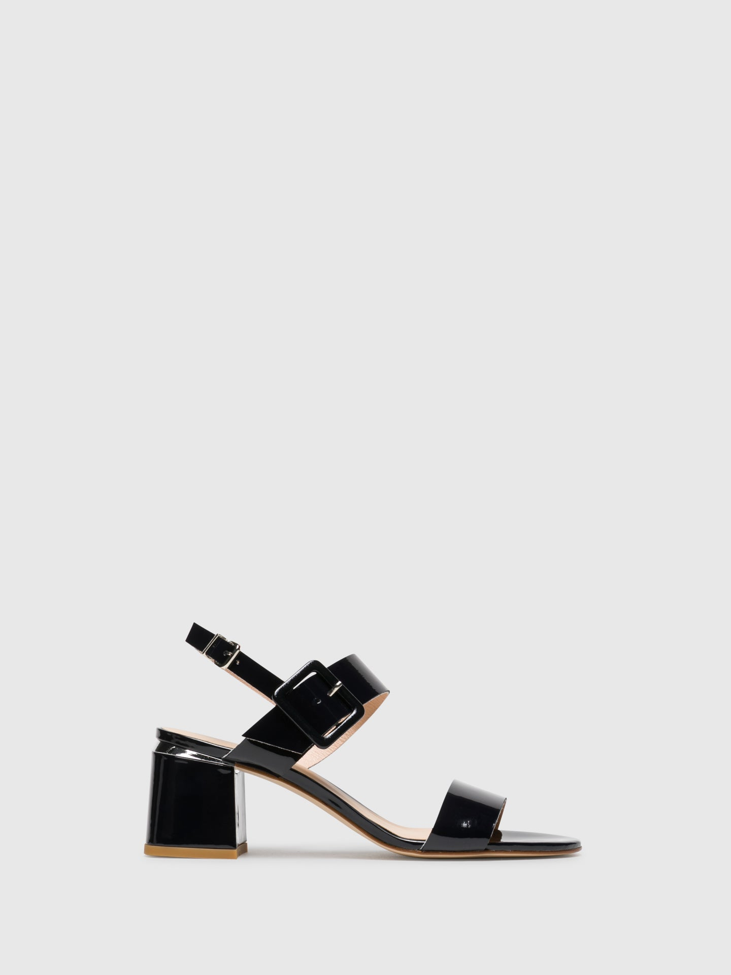 Sofia Costa Blue Buckle Sandals