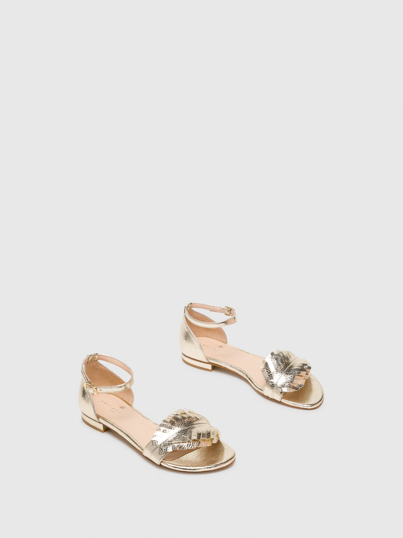 Gold Ankle Strap Sandals