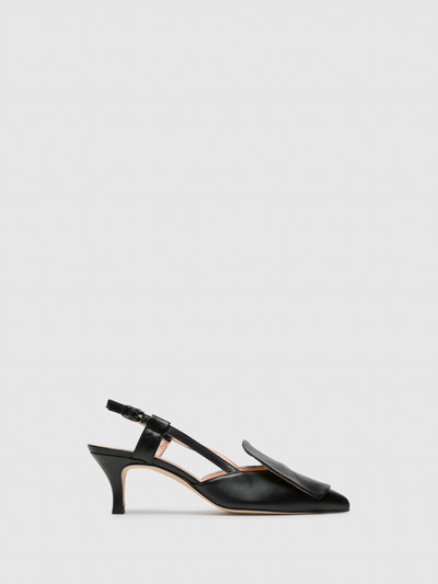 Sofia Costa Black Monk Sandals