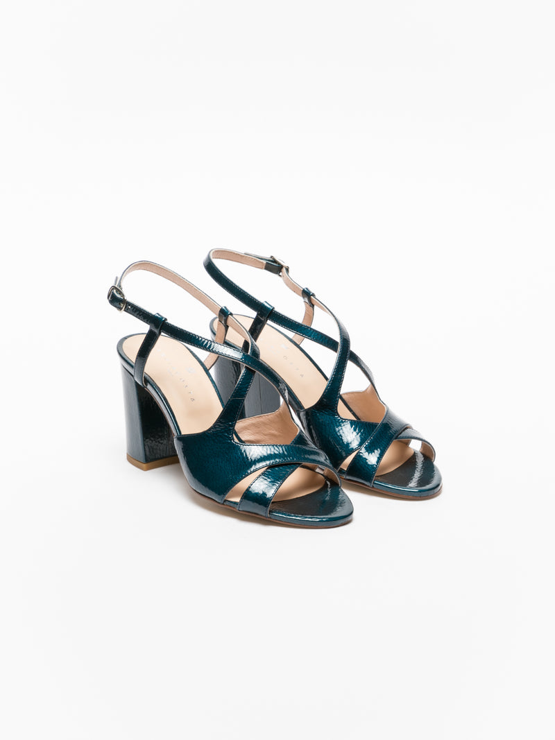 Sofia Costa Blue Crossover Sandals