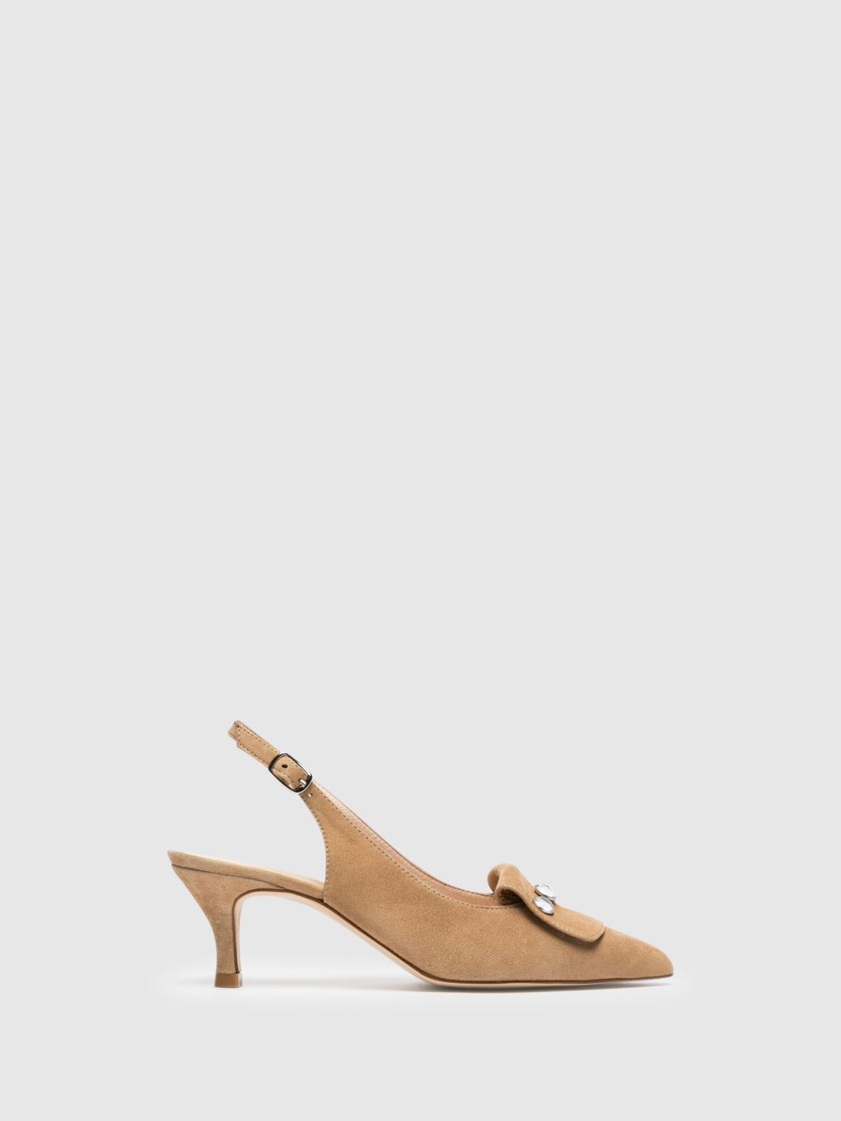 Sofia Costa Beige Ankle Strap Shoes