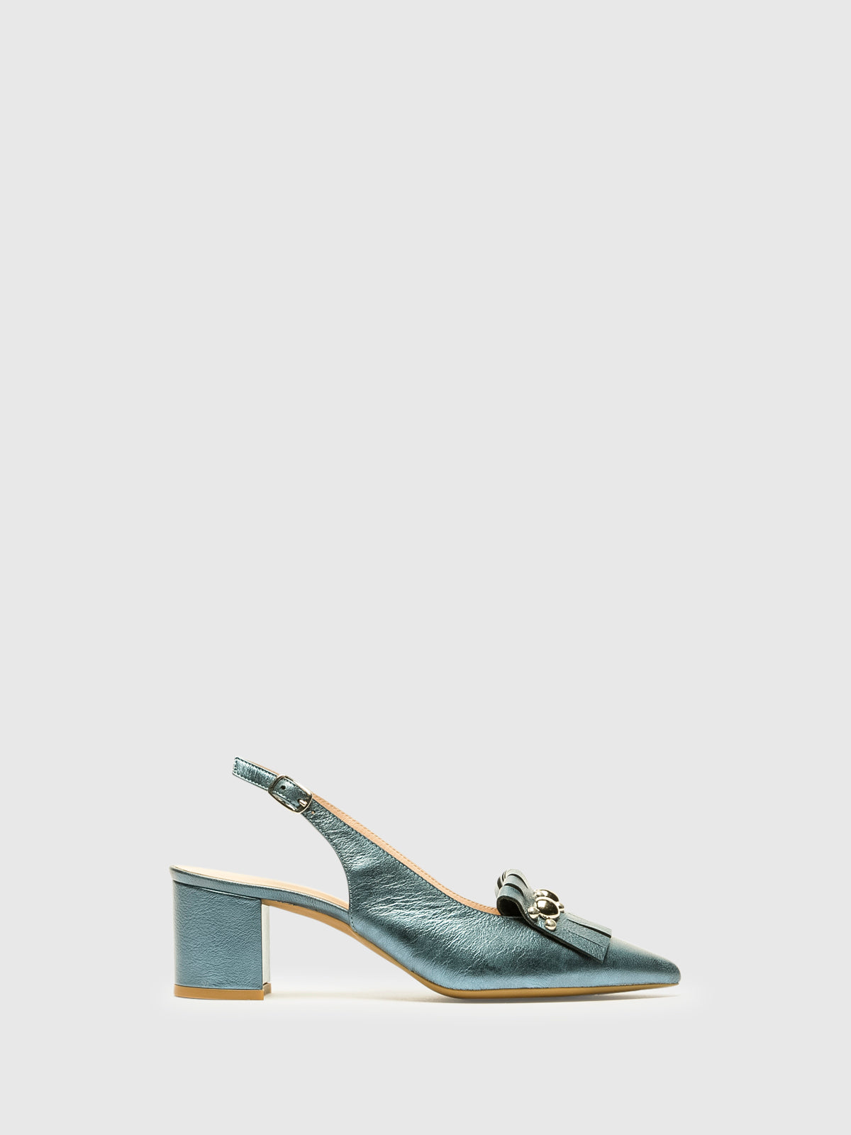 Sofia Costa Blue Sling-Back Pumps Shoes