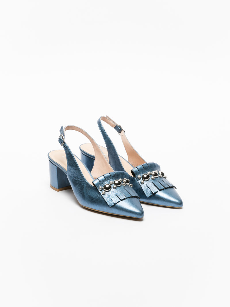 Blue Sling-Back Pumps Shoes