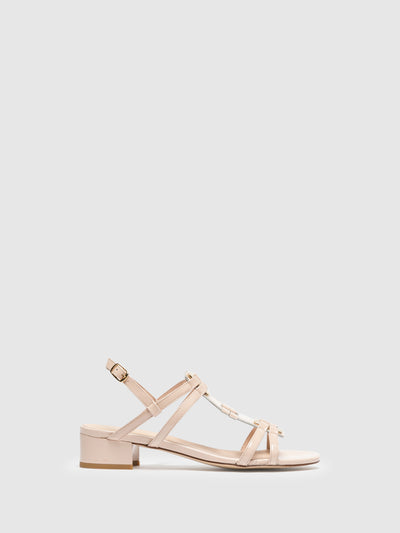 Sofia Costa Pink Sling-Back Sandals