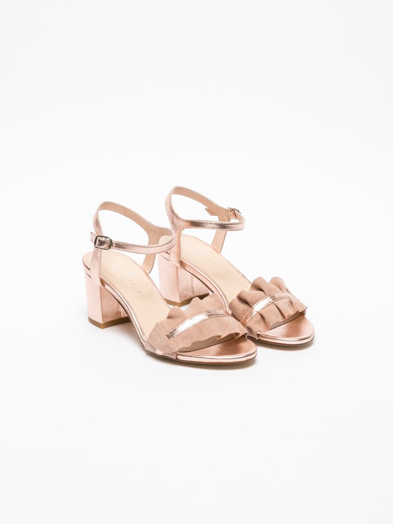 Sofia Costa Pink Ankle Strap Sandals