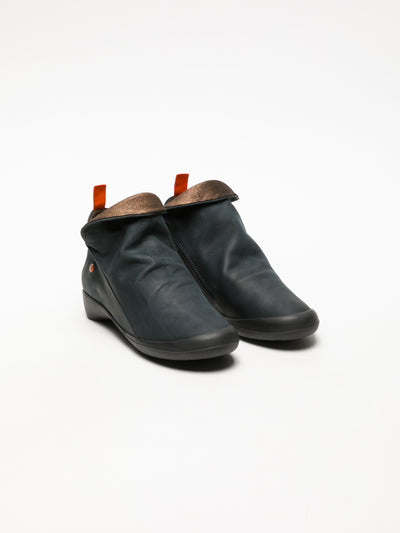 Softinos DarkBlue Zip Up Ankle Boots