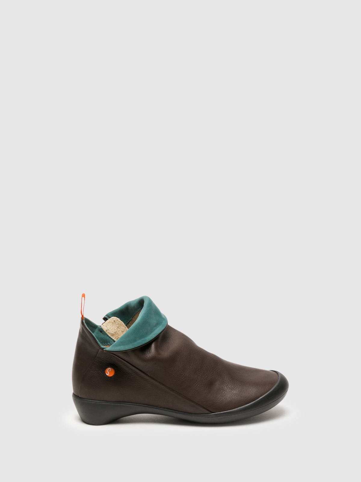 SOFTINOS SaddleBrown Zip Up Ankle Boots