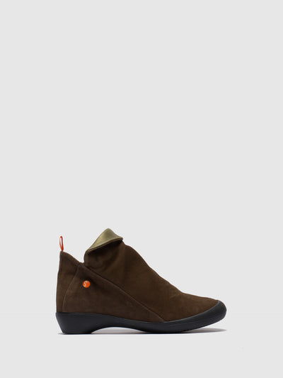 SOFTINOS SandyBrown Zip Up Ankle Boots