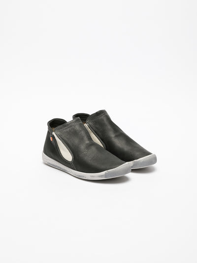 SOFTINOS Black Elasticated Trainers