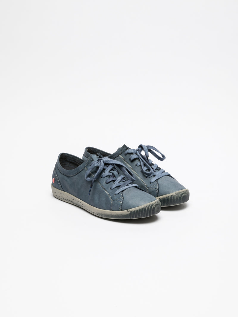 SOFTINOS SteelBlue Lace-up Trainers