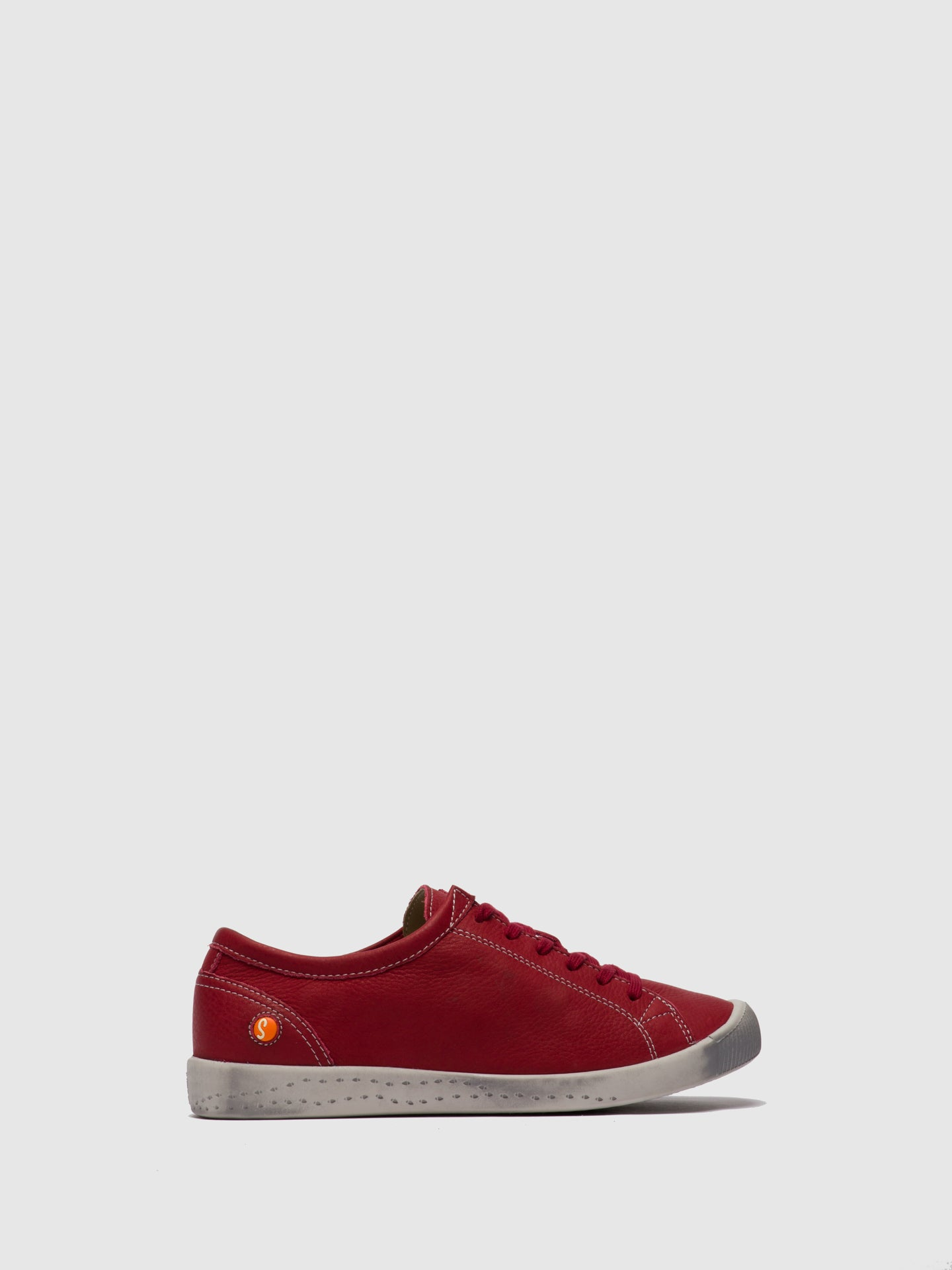 SOFTINOS Lace-up Trainers ISLA Red Leather