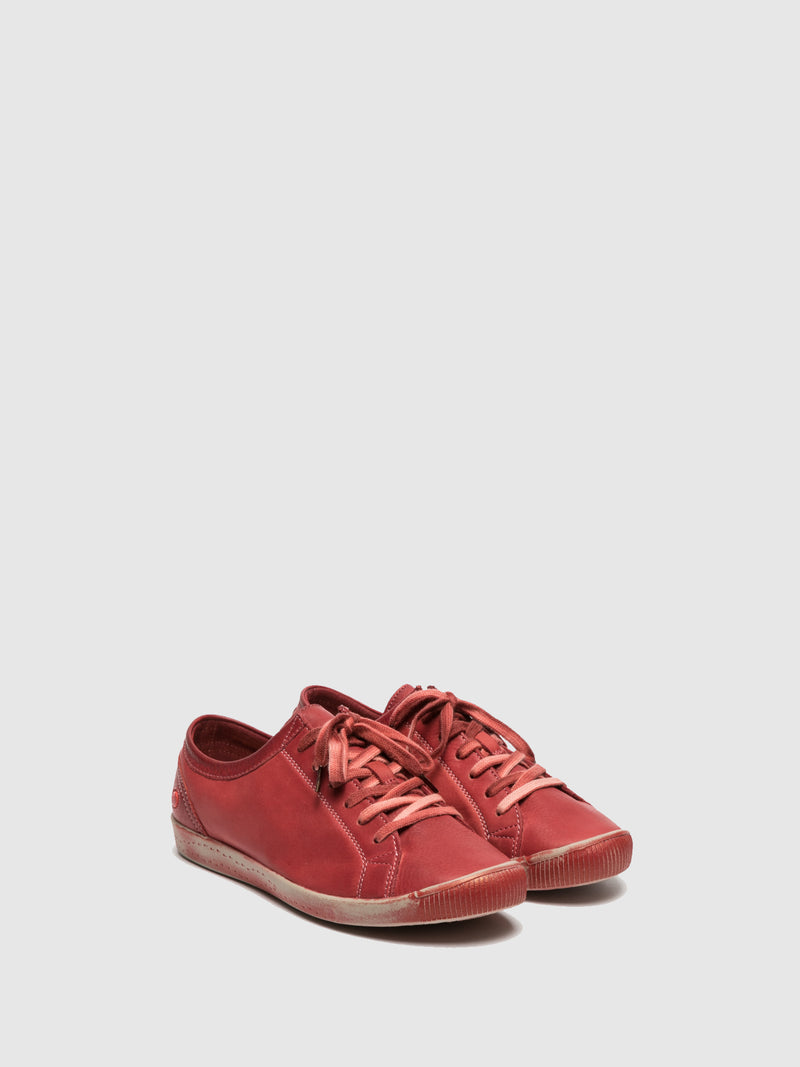 Softinos Lace-up Trainers ISLA SCARLET