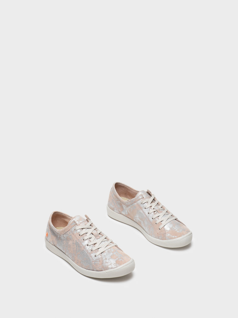 Pink Lace-up Trainers