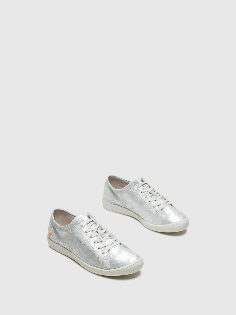 White Lace-up Trainers