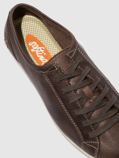 Softinos Lace-up Trainers ISLA DK.BROWN