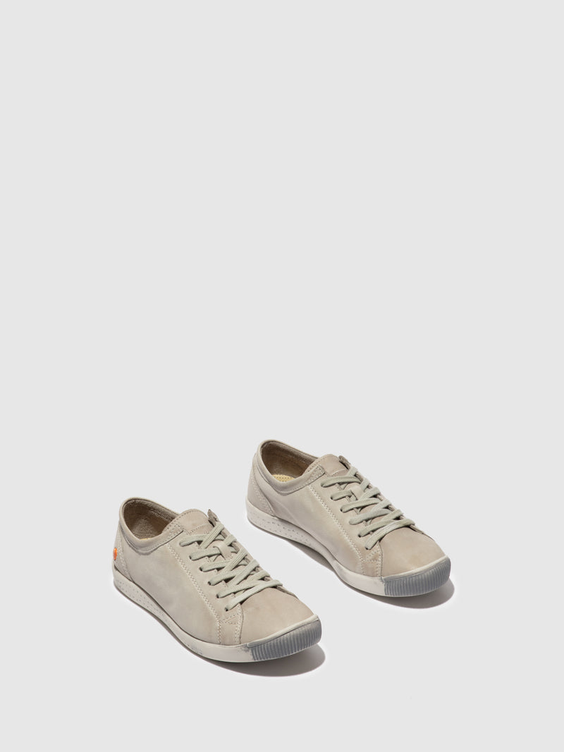 Softinos Lace-up Trainers ISLA WASHED LIGHT GREY