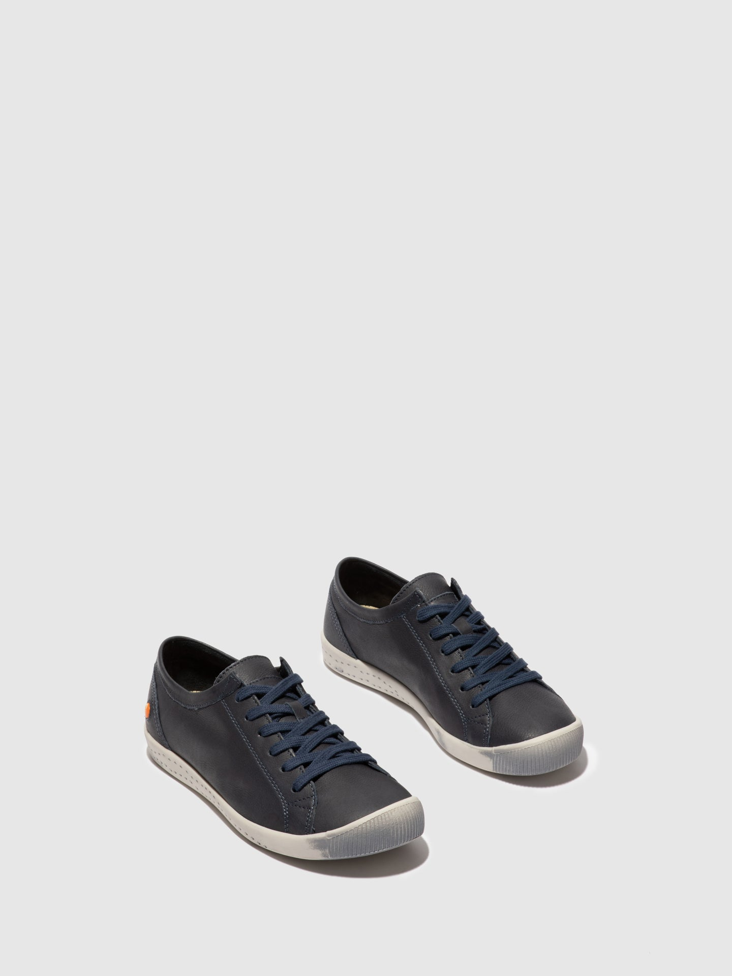 Softinos Lace-up Trainers ISLA SMOOTH NAVY