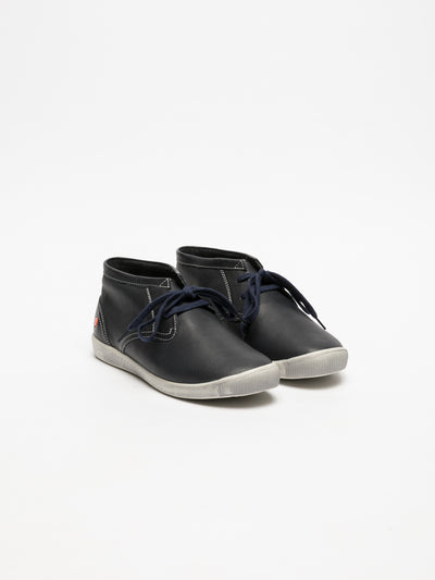SOFTINOS DarkBlue Hi-Top Trainers